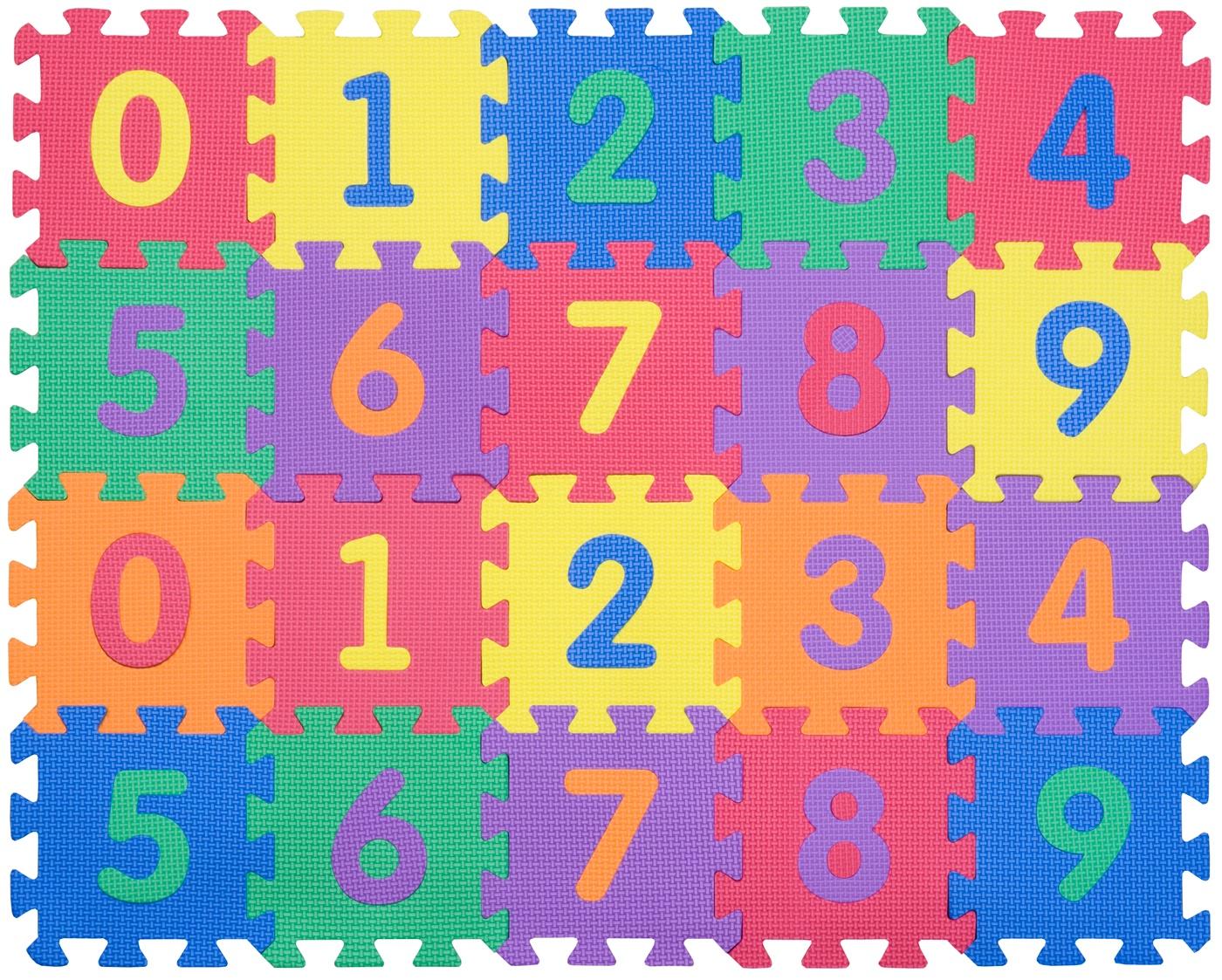 """Funkids / Детский игровой коврик-пазл """"Цифры-4-10"""" арт. KB-002-6-NT10"""