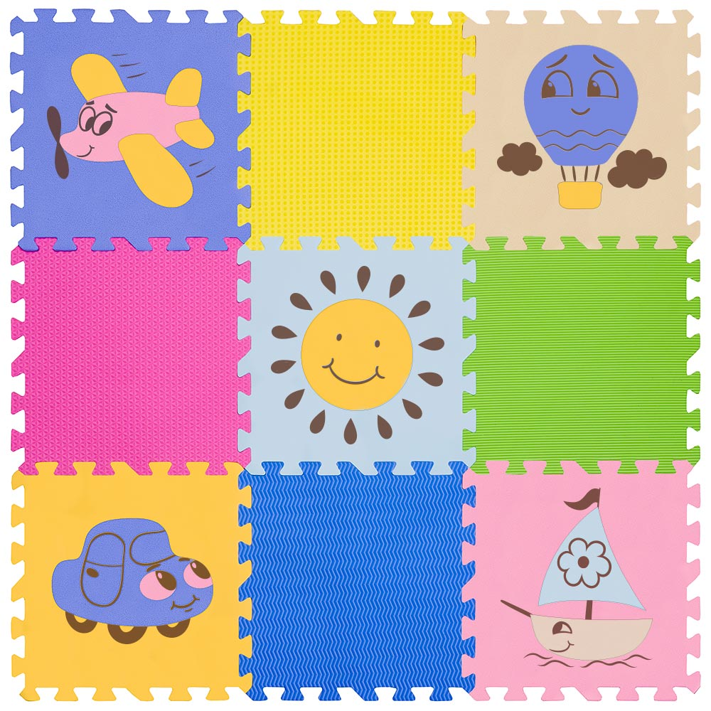 "Funkids / Детский игровой коврик-пазл ""Окружающий Мир"" арт. KB-D20B-NT-05"