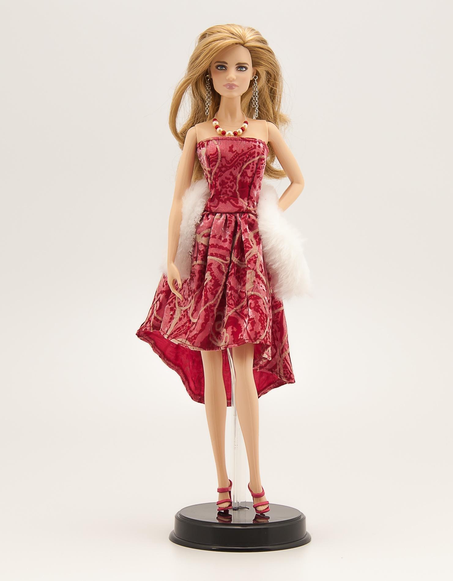 Платье и аксессуары для куклы 29 см Фламенко аксессуары