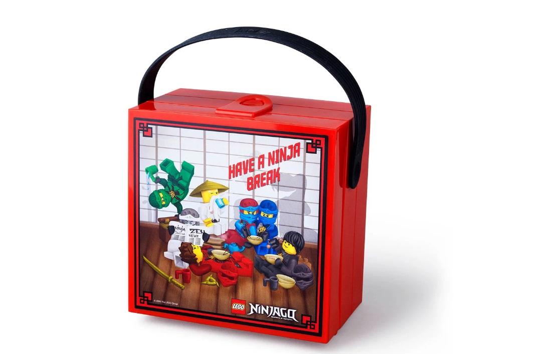 Контейнер для ланча Ninjago с ручкой, красный (Lego 40511733) контейнер для ланча lego ninjago movie с ручкой зеленый