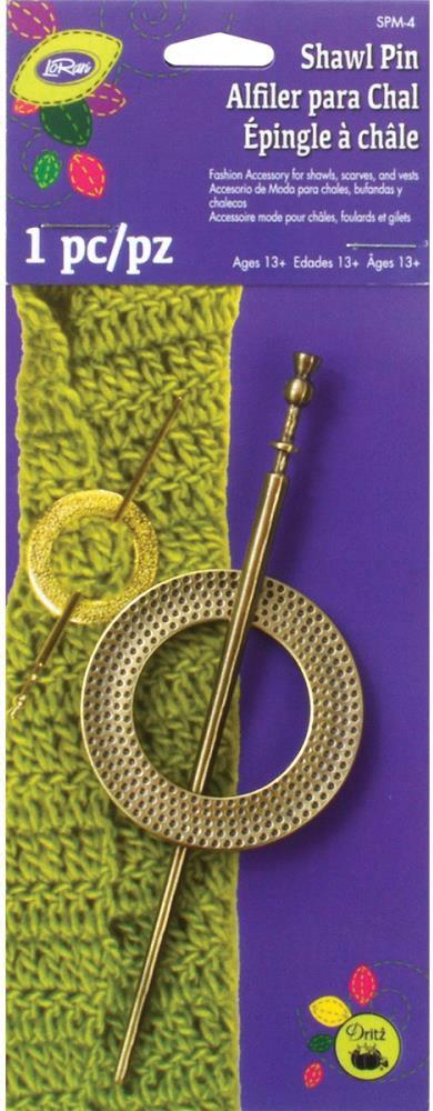 Декоративная булавка  Brass Round  (1 шт.)