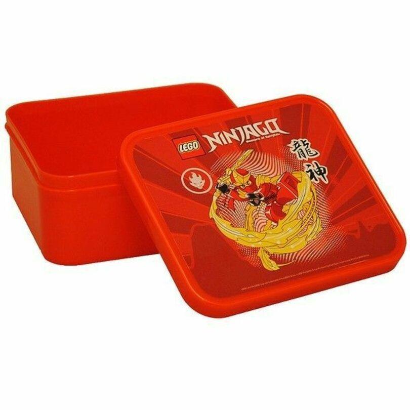 Контейнер для ланча Лего NINJAGO, красный контейнер для ланча lego ninjago movie с ручкой зеленый