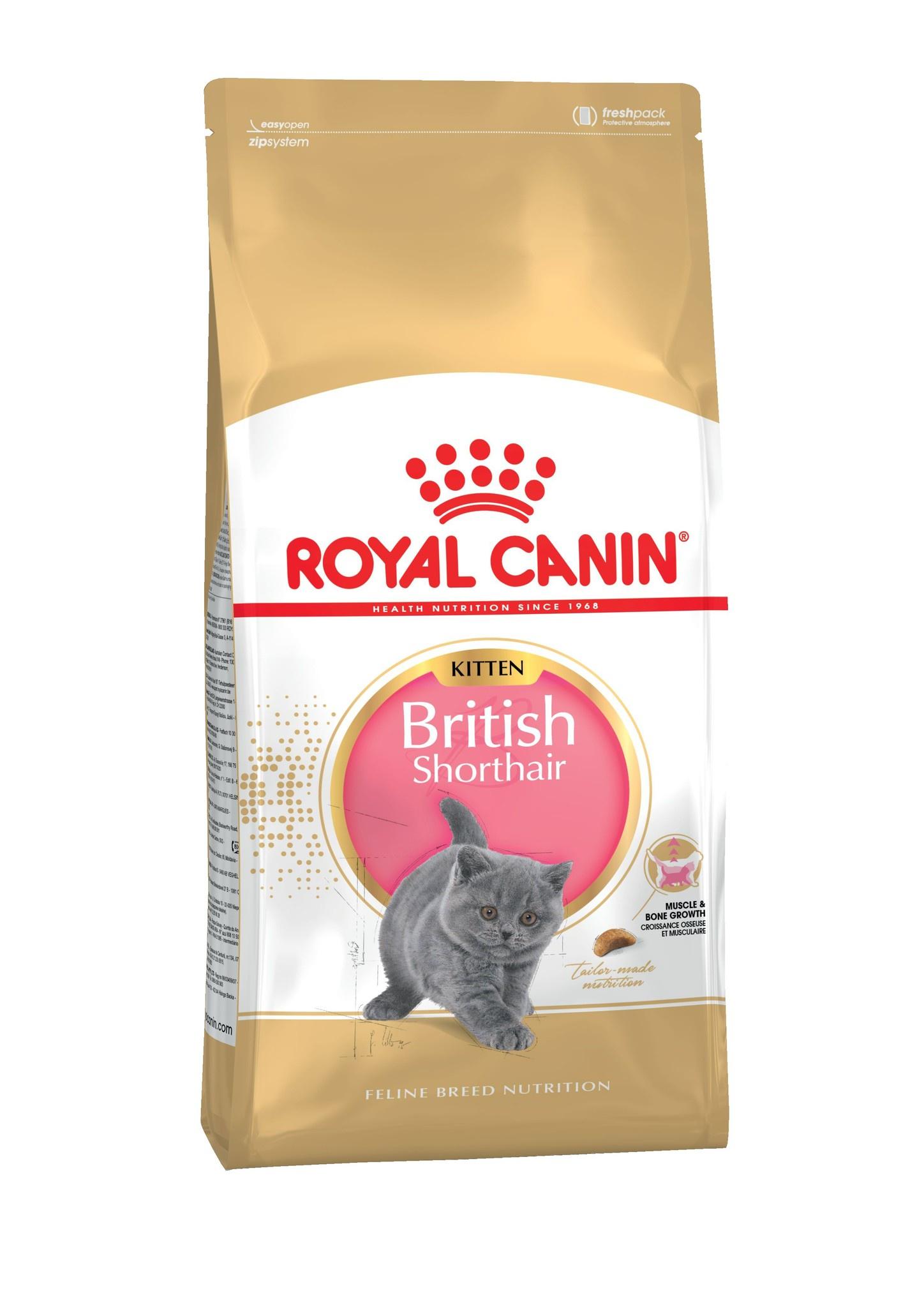 цена на Royal Canin сухой корм Kitten British Shorthair (10 кг)