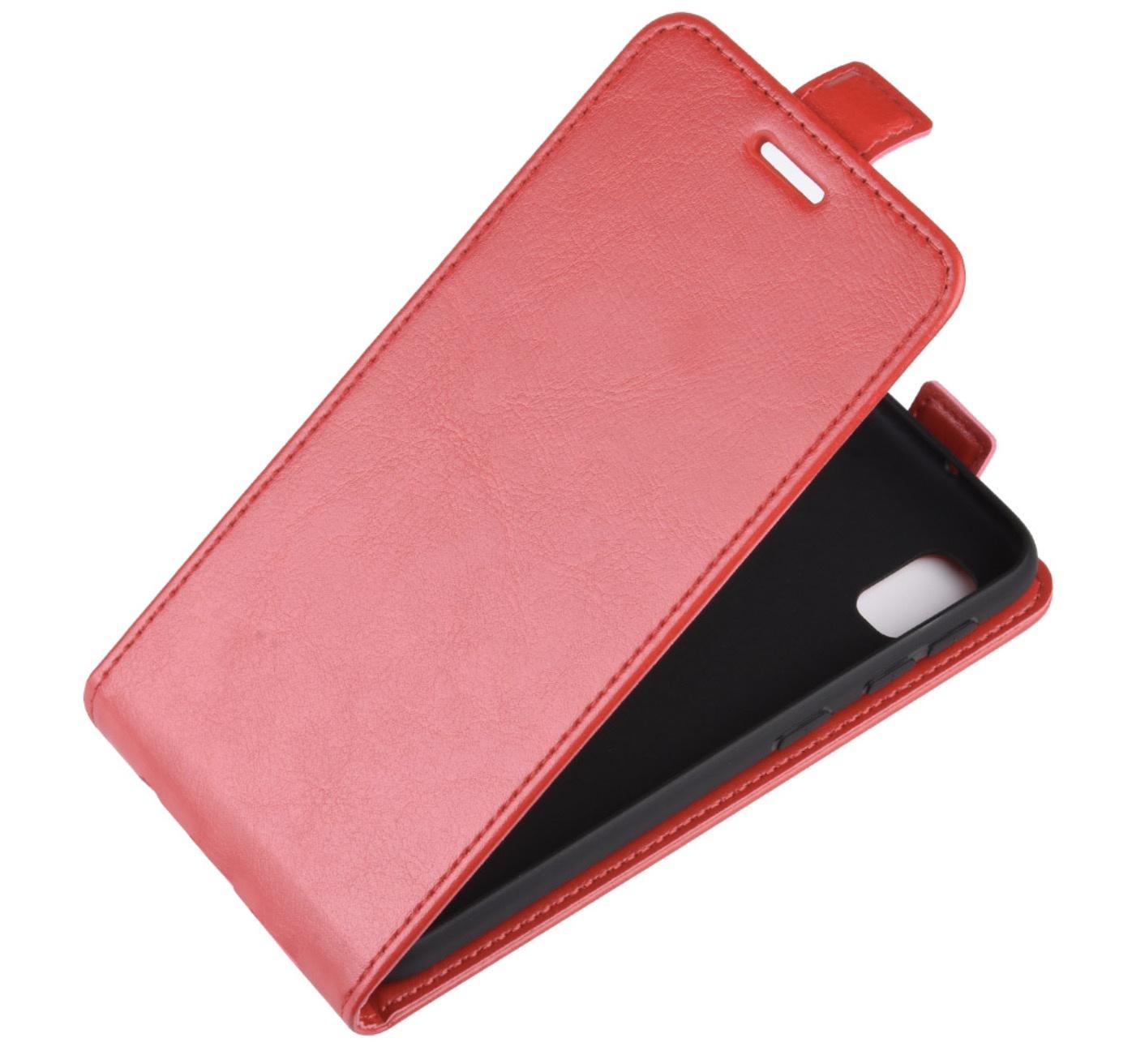 Чехол-флип MyPads для Huawei Honor 10i / Enjoy 9S / P Smart Plus 2019 вертикальный откидной красный