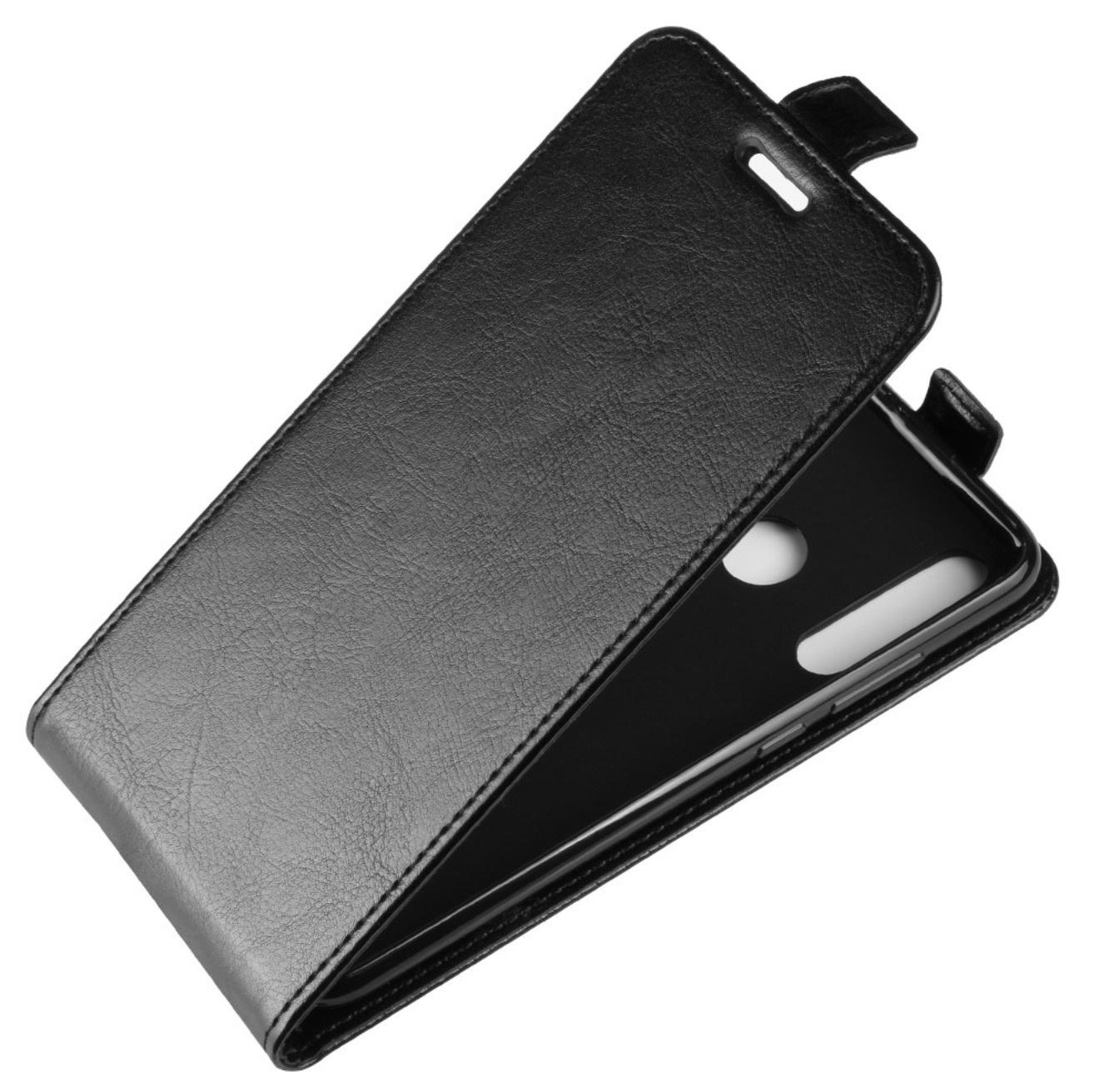 Чехол-флип MyPads для Xiaomi Redmi Note 7/ Note 7 Pro вертикальный откидной черный