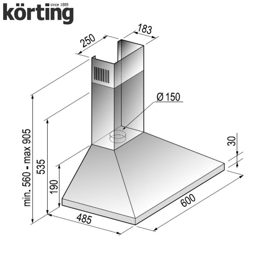 Купольная вытяжка Korting KHC 6431 W Korting