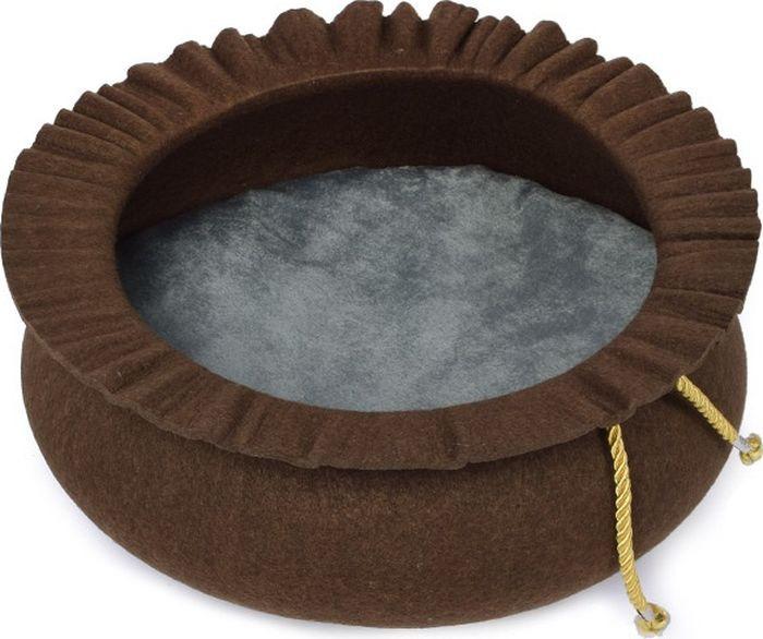 Лежак для животных Adel-Pet ЕК12 Шляпа, 17489, коричневый, 40 х 15 см