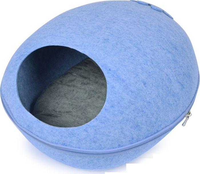 Лежак для животных Adel-Pet ЕК10 Овал, 17487, голубой, 48 х 39 26 см