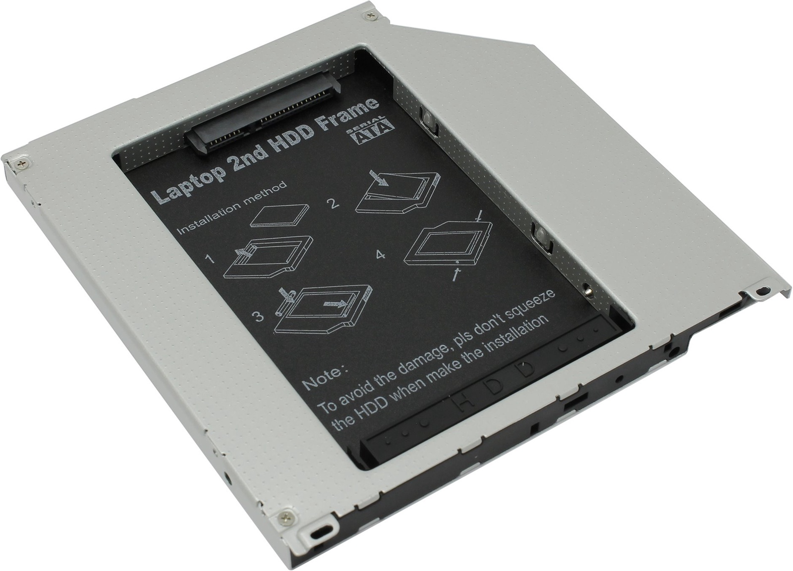 SS95U, Адаптер оптибей Espada SATA/miniSATA (SlimSATA) для подключения HDD/SSD 2,5дюйма к ноутбуку вместо DVD переходник minisata sata