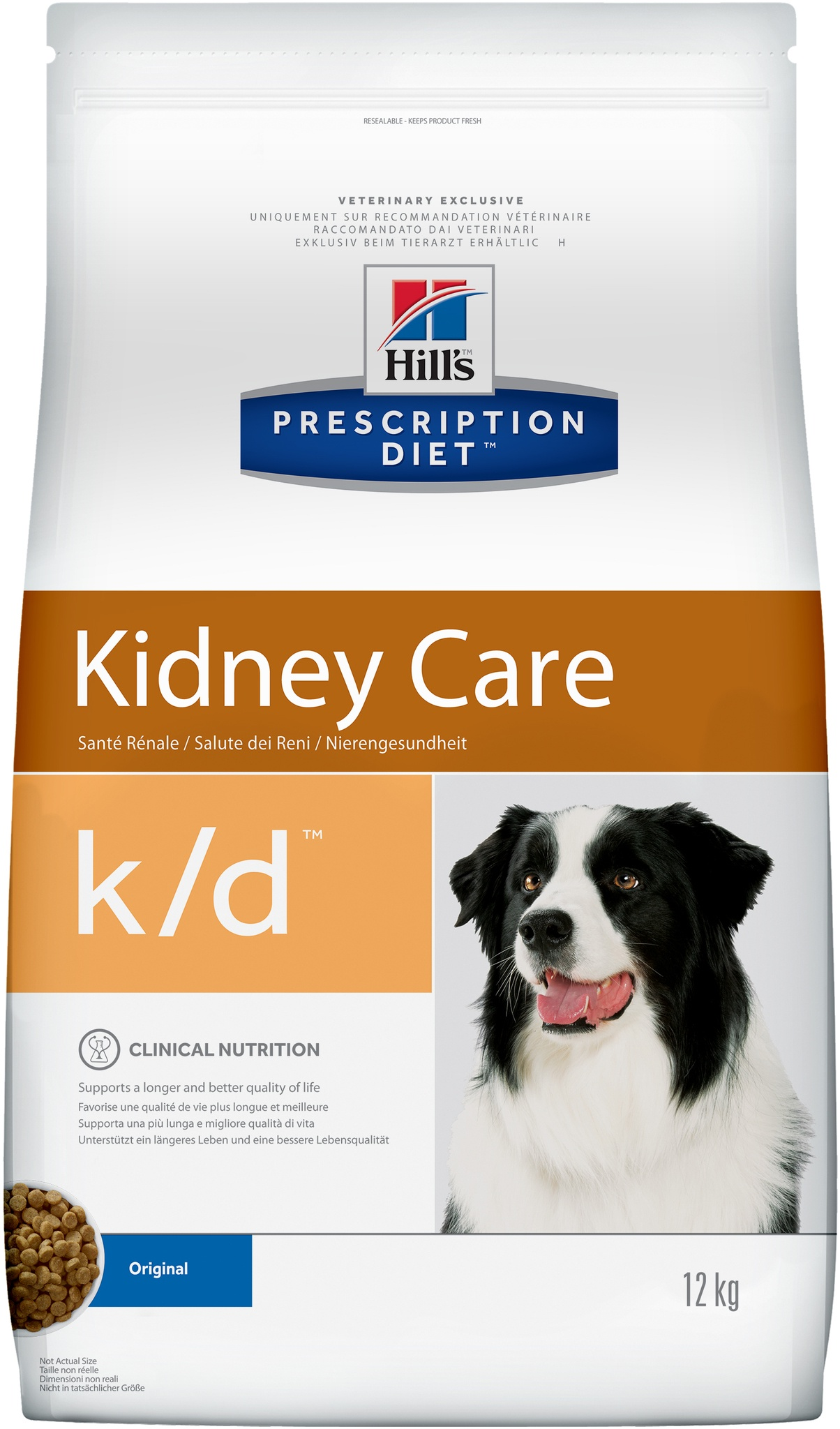 Hill's корм для взрослых и пожилых собак всех пород для поддержания здоровья почек (12 кг)
