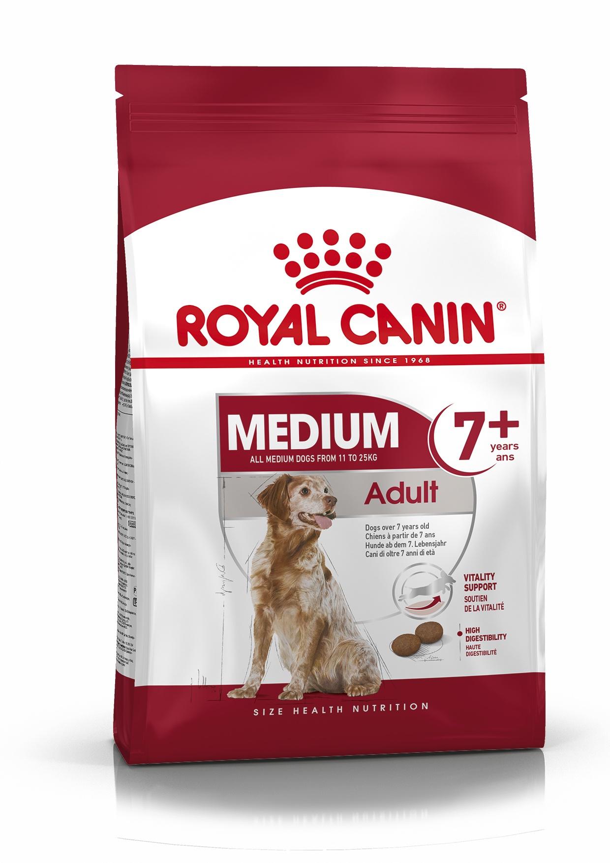 Royal Canin корм для пожилых собак средних пород (от 7 лет) (4 кг)