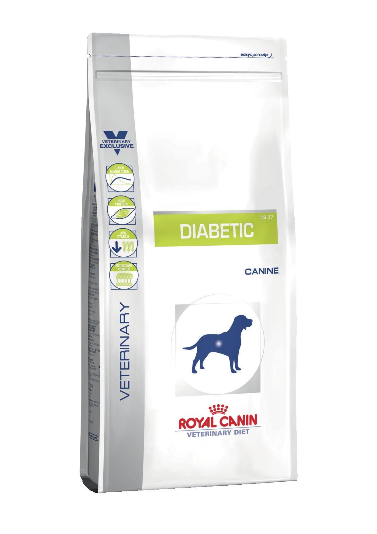 Royal Canin корм для взрослых и пожилых собак всех пород, при сахарном диабете (12 кг) royal canin сухой корм royal canin diabetic canine ds37 для собак при ожирении 2 й стадии или при сахарном диабете