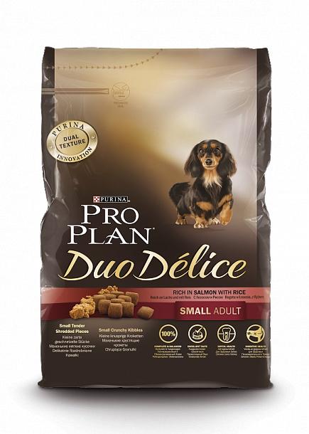 Purina Pro Plan Duo Delice сухой корм для взрослых собак мелких пород, говядина и рис (2,5 кг)