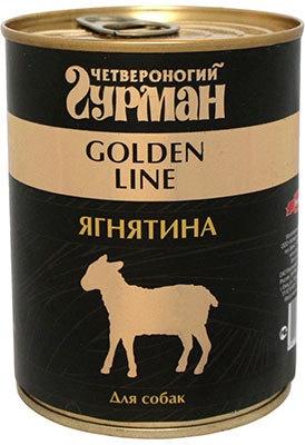 Четвероногий Гурман консервы для взрослых собак всех пород, ягненок натуральный в желе (340 гр) консервы для собак четвероногий гурман с рубцом в желе 240 г