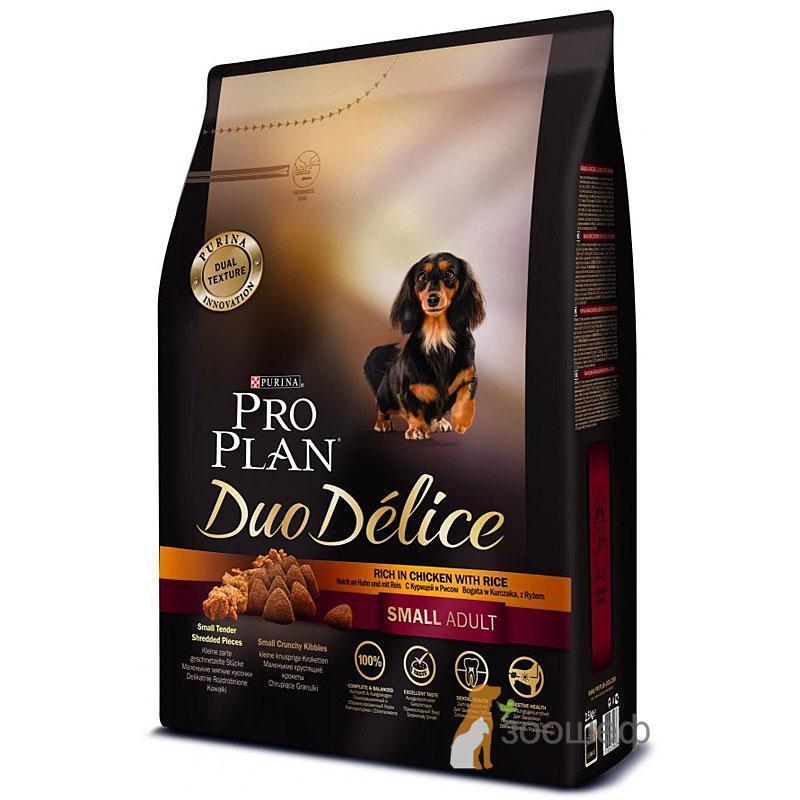 Purina Pro Plan Duo Delice сухой корм для взрослых собак мелких пород, курица и рис (2,5 кг)