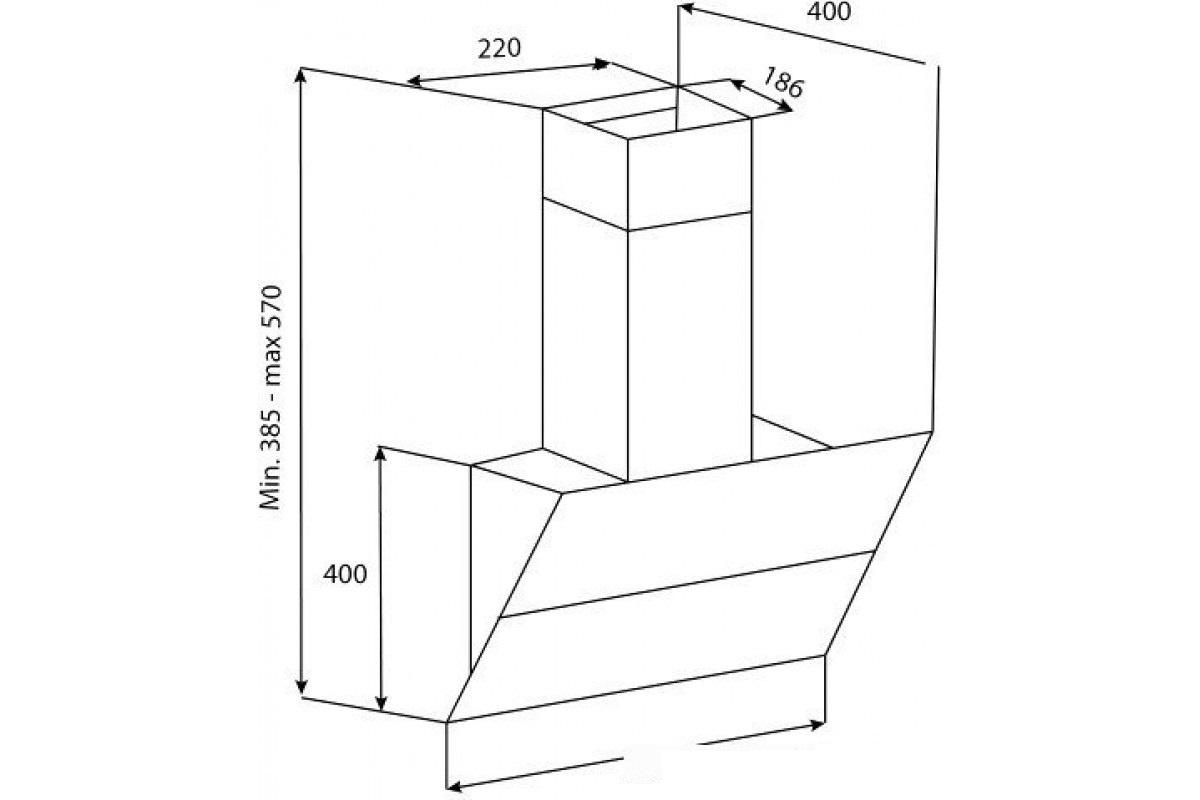 Наклонная вытяжка Korting KHC 65070 GB Korting