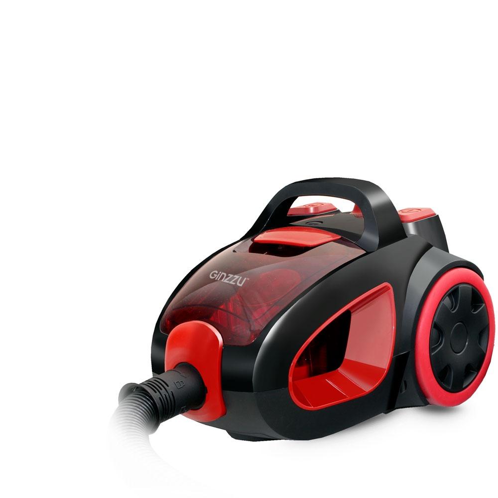 Пылесос Ginzzu VS437, Black Red пылесос ginzzu vs435 black red