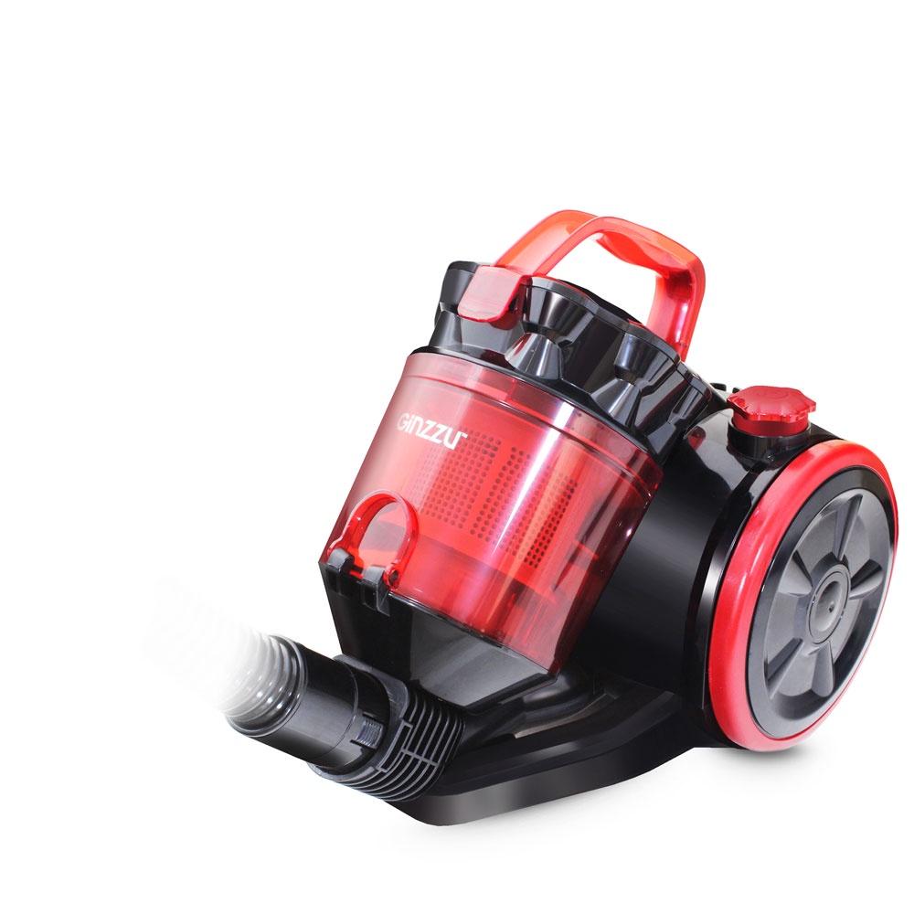 Пылесос Ginzzu VS422, Black Red пылесос ginzzu vs435 black red