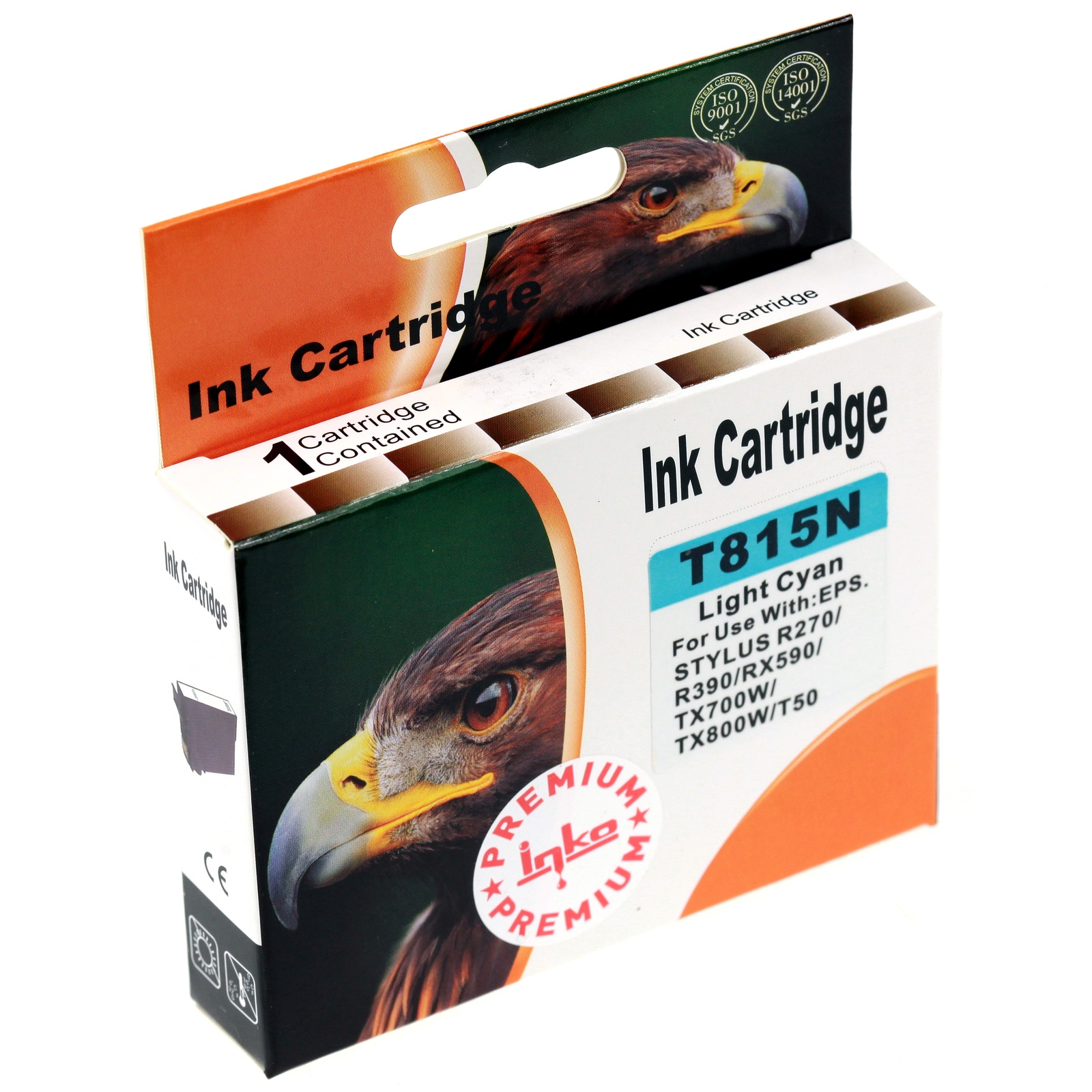 Картридж Inko T815N для Epson Stylus Photo R270, R290, T50, TX650 светло-голубой повышенной емкости цена 2017
