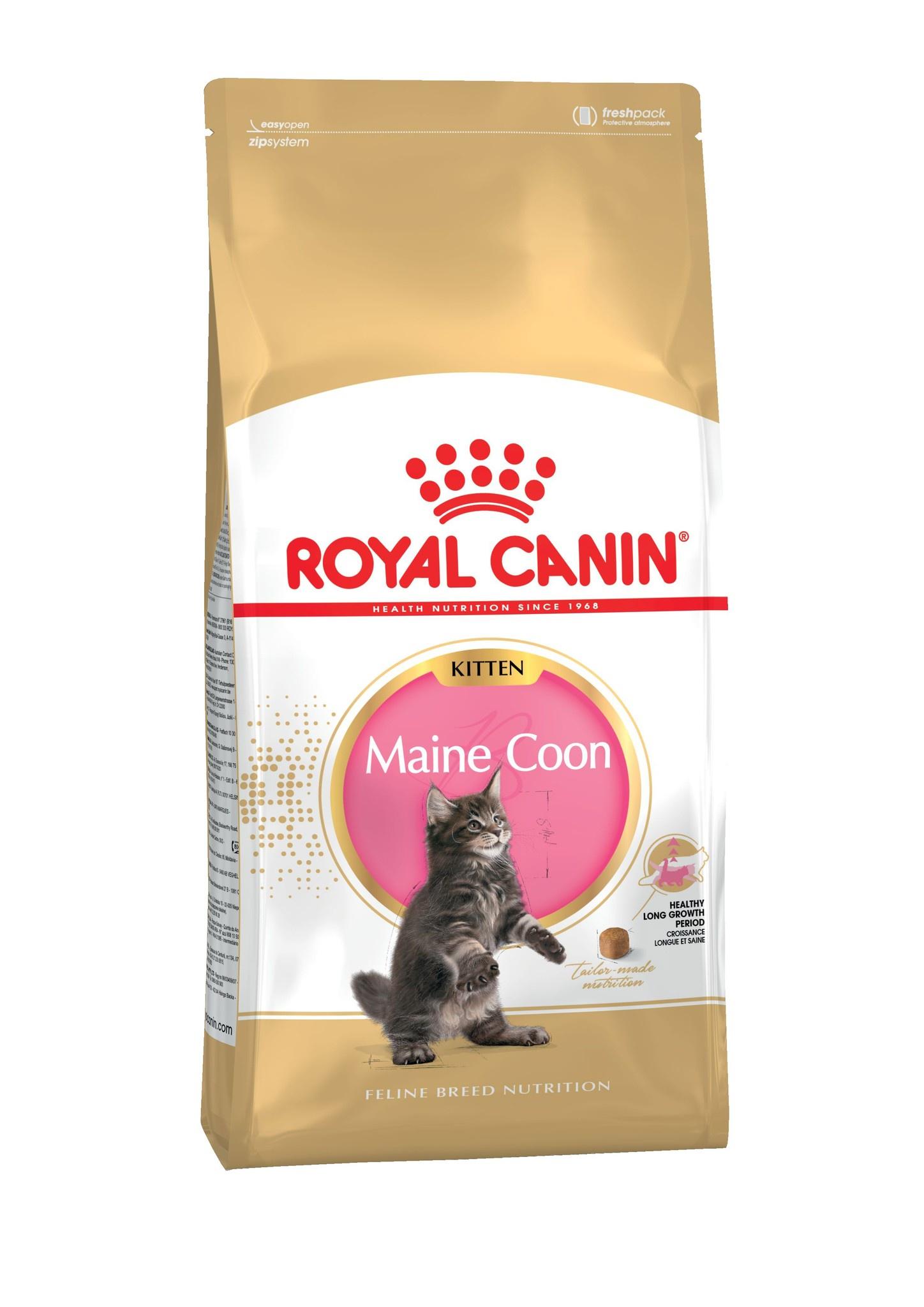 Royal Canin корм для котят породы Мейн Кун и других крупных пород (2 кг) корм для кошек взрослых породы мейн кун соус 12х0 085 кг