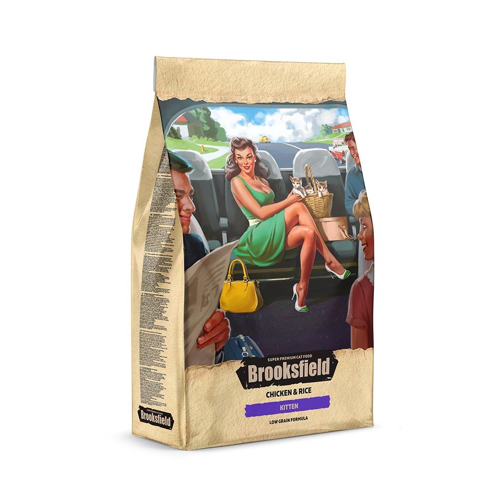 BROOKSFIELD корм для котят всех пород, курица с рисом (400 гр) блейзер brooksfield