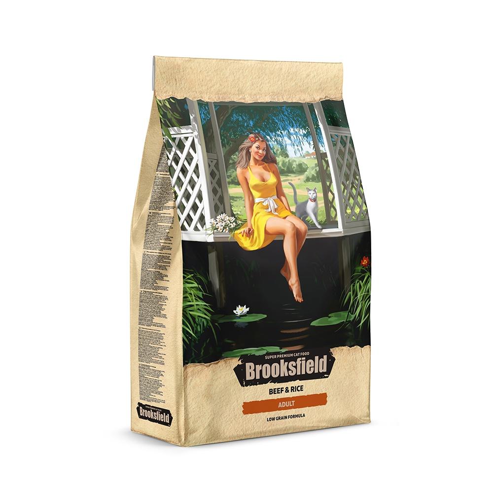 BROOKSFIELD корм для взрослых кошек всех пород, говядина с рисом (400 гр) блейзер brooksfield