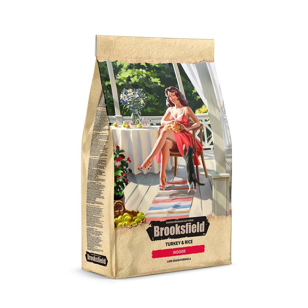 BROOKSFIELD корм для взрослых кошек всех пород, живущих в помещении, индейка с рисом (400 гр) блейзер brooksfield