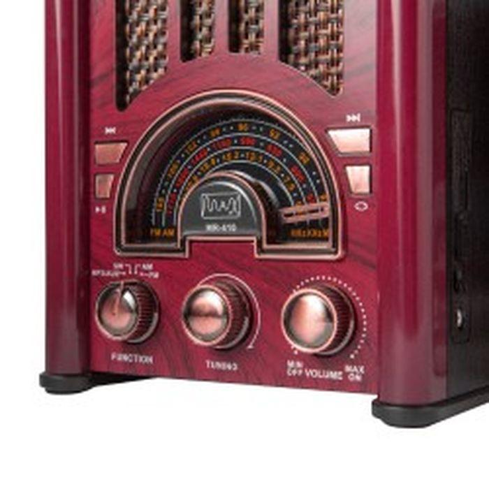 Радиоприемник MAX MR 410, бордовый MAX