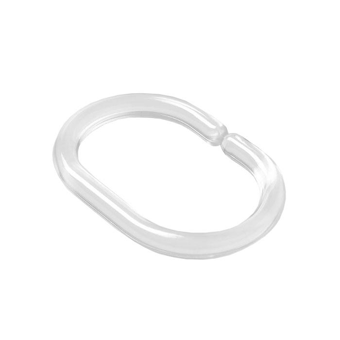 Набор колец для шторы в ванную комнату, Transparent, Milardo, RMI012P 12 шт