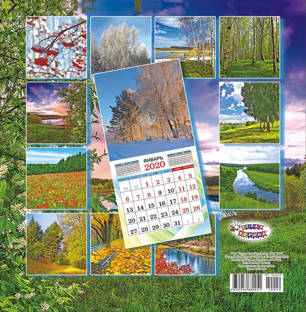 Календарь перекидной средний на скрепке на 2020 год, Природа, 230х235 мм ПК-20-019 ЛиС