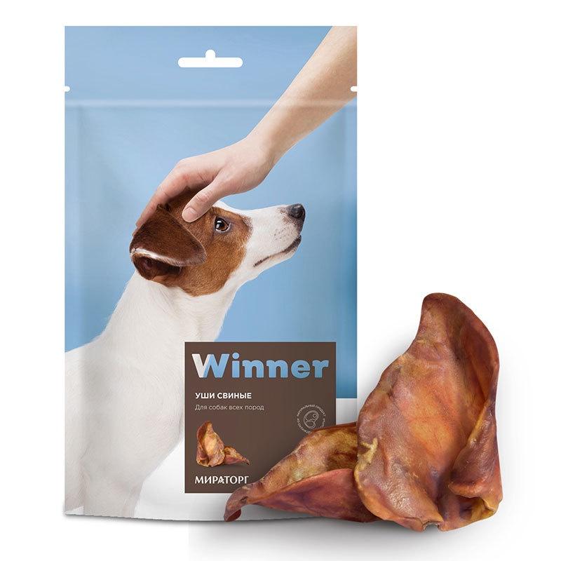 цены Winner лакомство для взрослых собак всех пород, свиные уши (90 гр)
