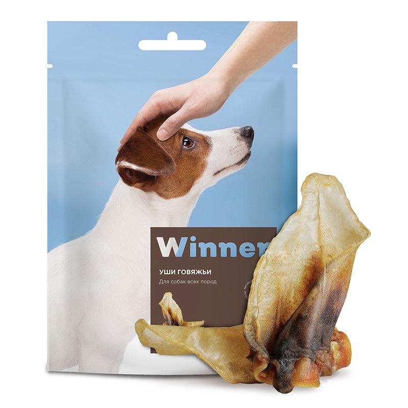 Winner лакомство для взрослых собак всех пород, уши говяжьи (70 гр)