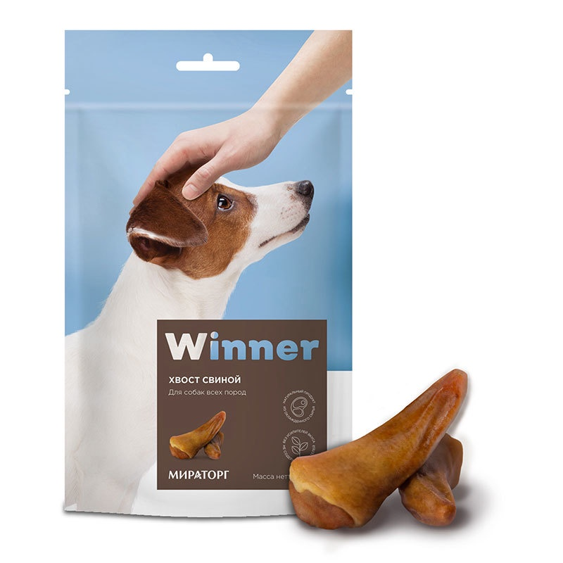 Winner лакомство для взрослых собак всех пород, хвосты свиные (90 гр)