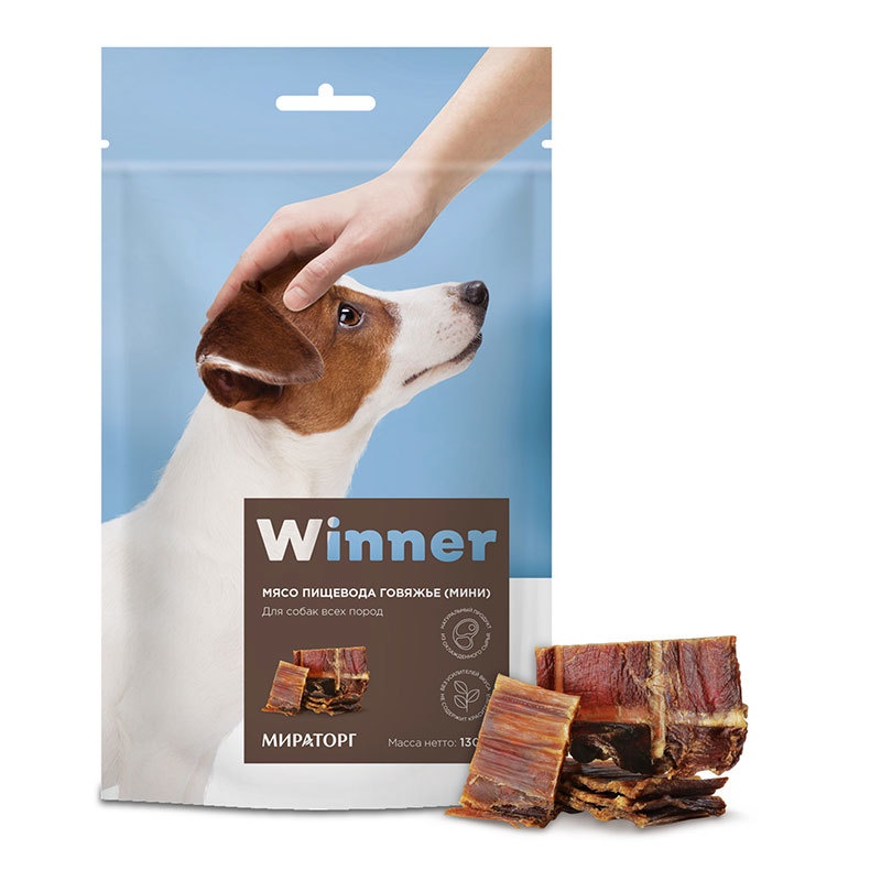 Winner лакомство для взрослых собак всех пород, пищевод (мини) (130 гр)