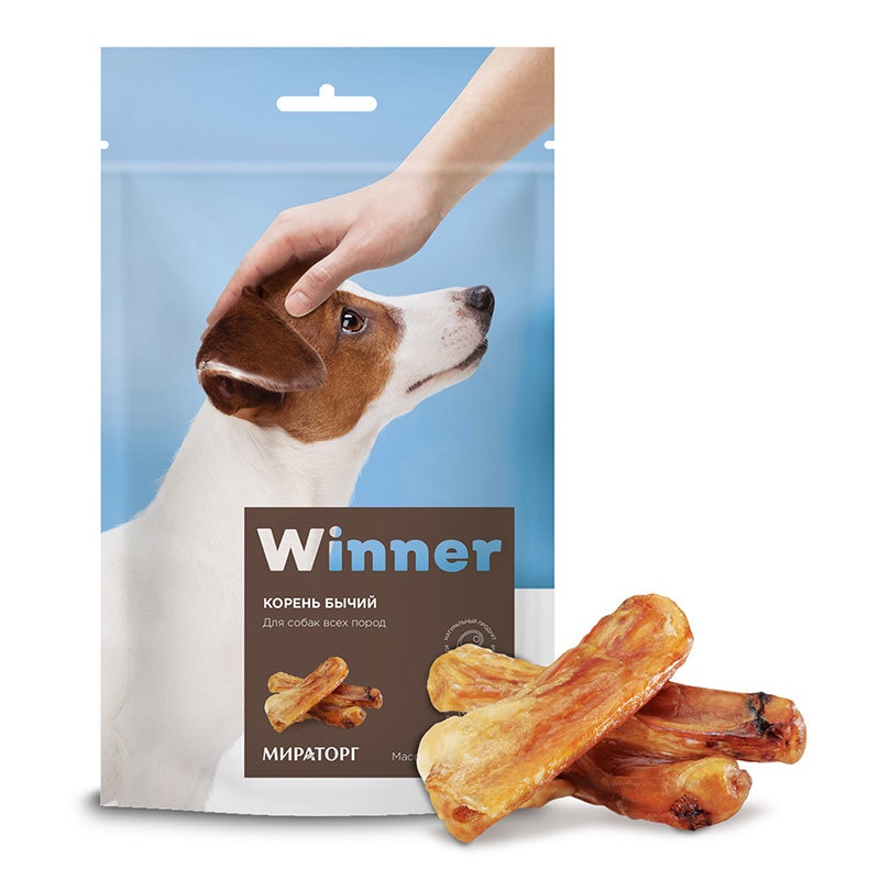 Winner лакомство для взрослых собак всех пород, корень бычий (160 гр)