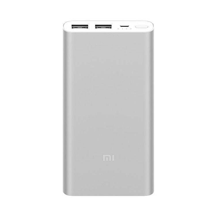 Внешний аккумулятор Xiaomi Mi Power Bank 2 10000 mAh, серебряный