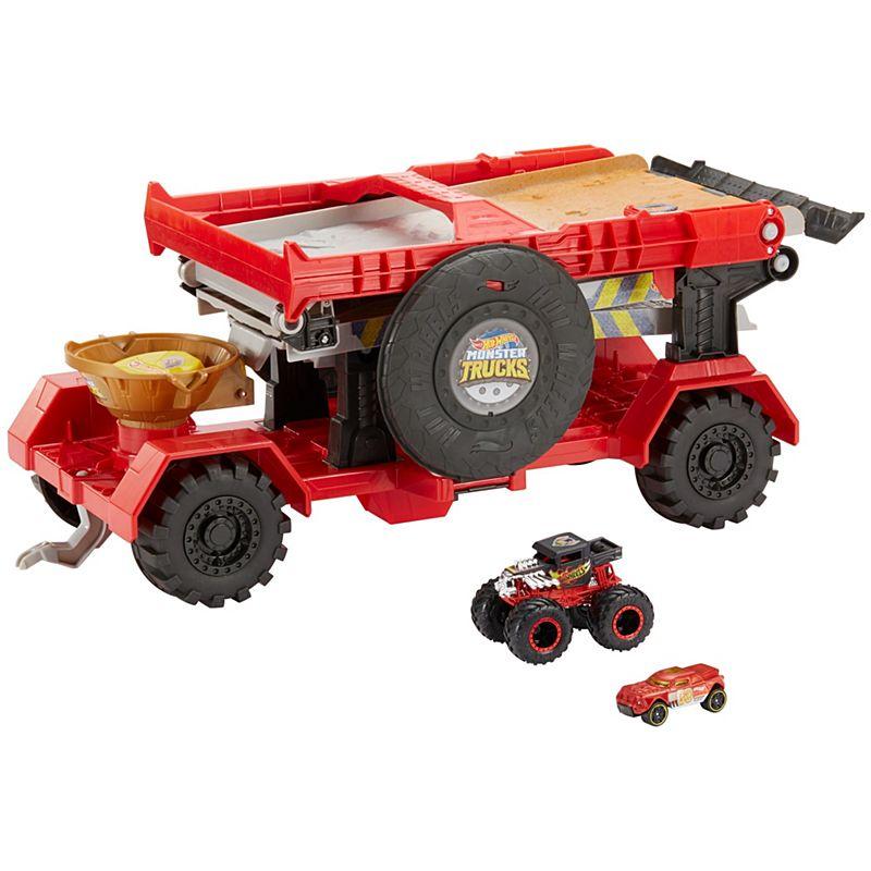 Hot Wheels Игровой набор Монстр трак Передвижной трамплин