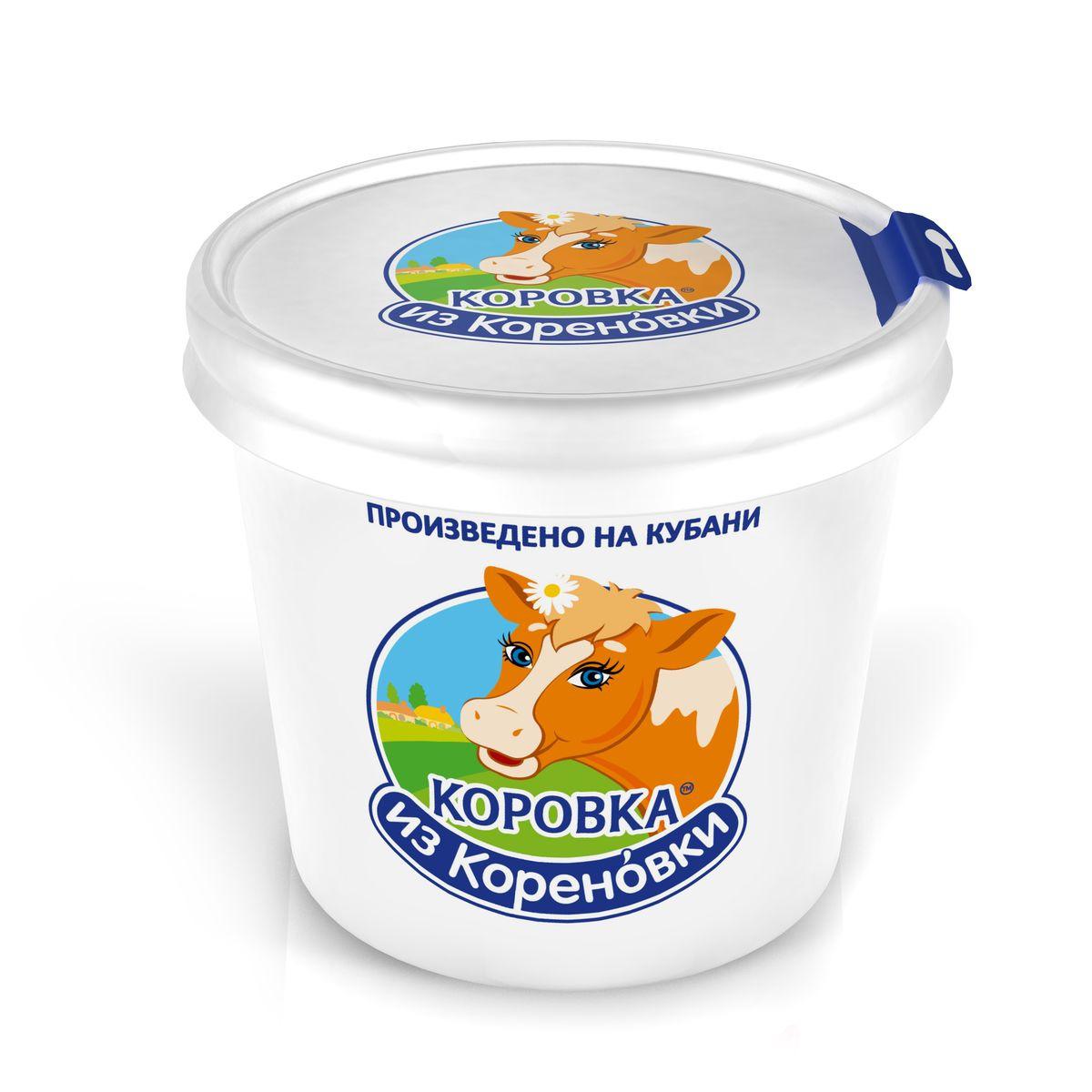 Мороженое Коровка из Кореновки Пломбир ванильный, в бумажном стакане, с ложкой, 80 г