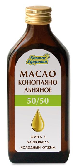 Масло Конопляно-льняное Компас Здоровья, 250 мл