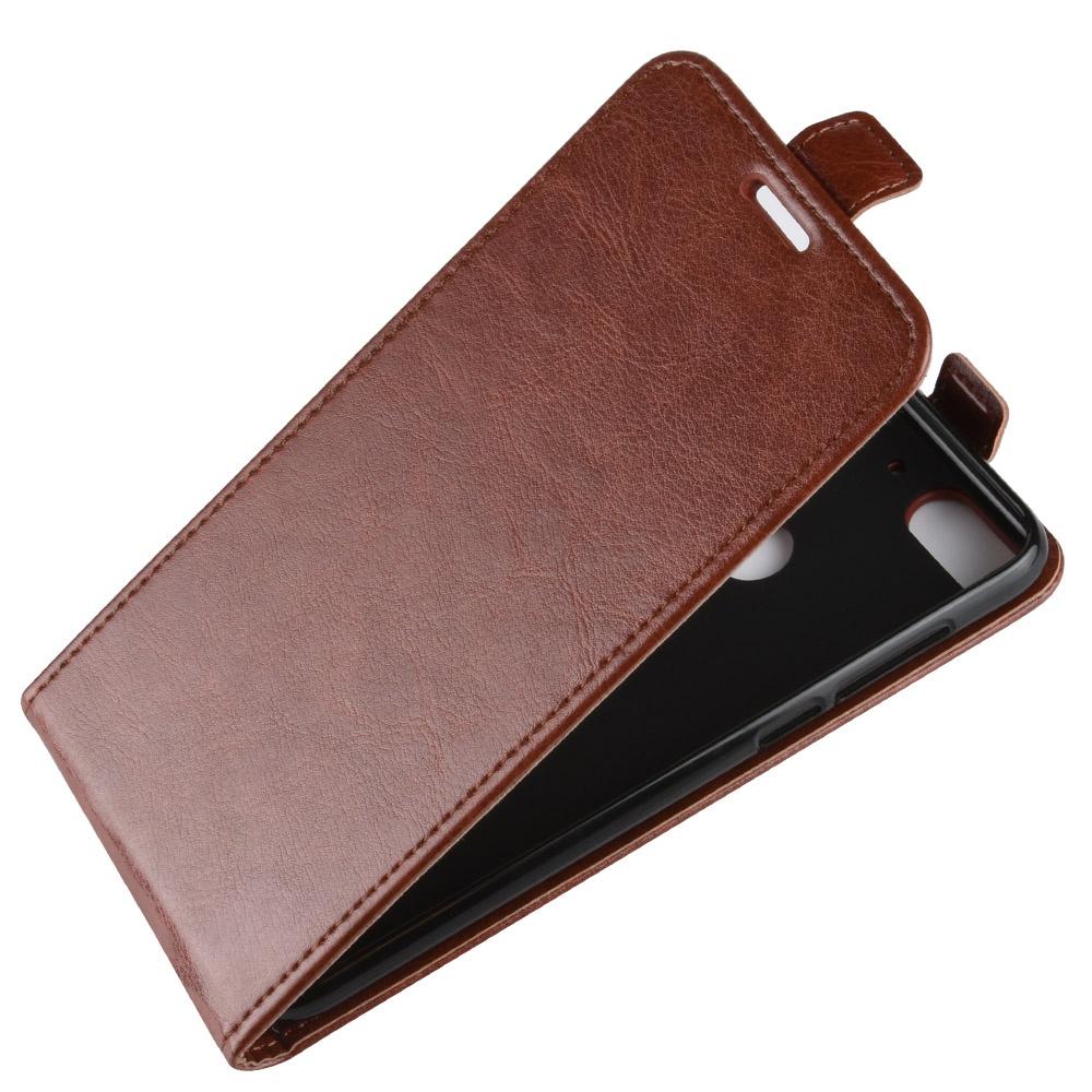 Чехол-флип MyPads для HTC Desire 12 вертикальный откидной коричневый