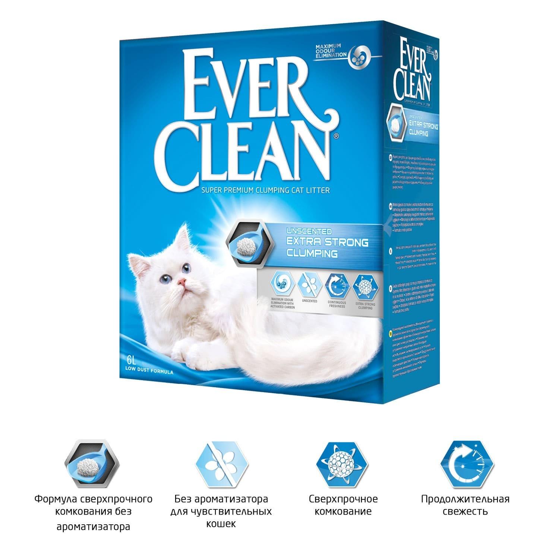 цена на Ever Clean Extra Strength комкующийся наполнитель без аромата (6 кг)