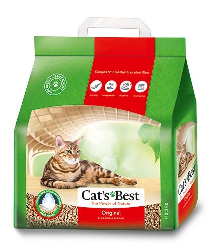 цена на Cats Best Original Древесный комкующийся наполнитель (5 л)