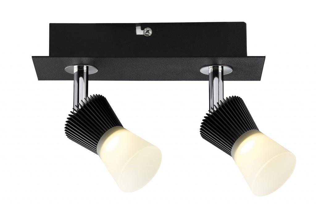 Потолочный светильник Konos LED,2x 3 W, 230/12 V,3000 K/2x 200 lm, черный
