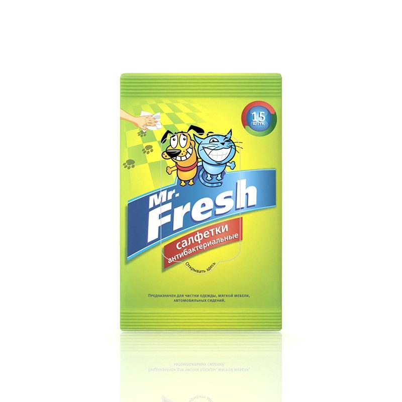 Mr.Fresh Салфетки влажные 15шт (62 гр) эконом smart салфетки влажные антибактериальные 15шт