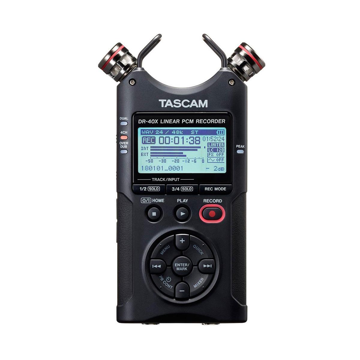 Диктофон Tascam DR-40x, черный