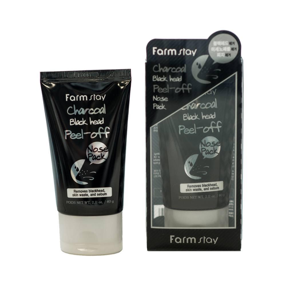 FarmStay маска-плёнка с углем для носа Charcoal Black Head Peel-off Nose Pack 60 мл. очищающая маска пленка с углем farmstay charcoal black head peel off mask pack 100гр