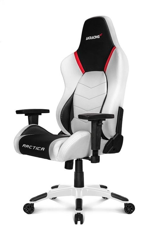 Игровое Кресло AKRacing ARCTICA (цвет обивки: белый, цвет каркаса: черный)
