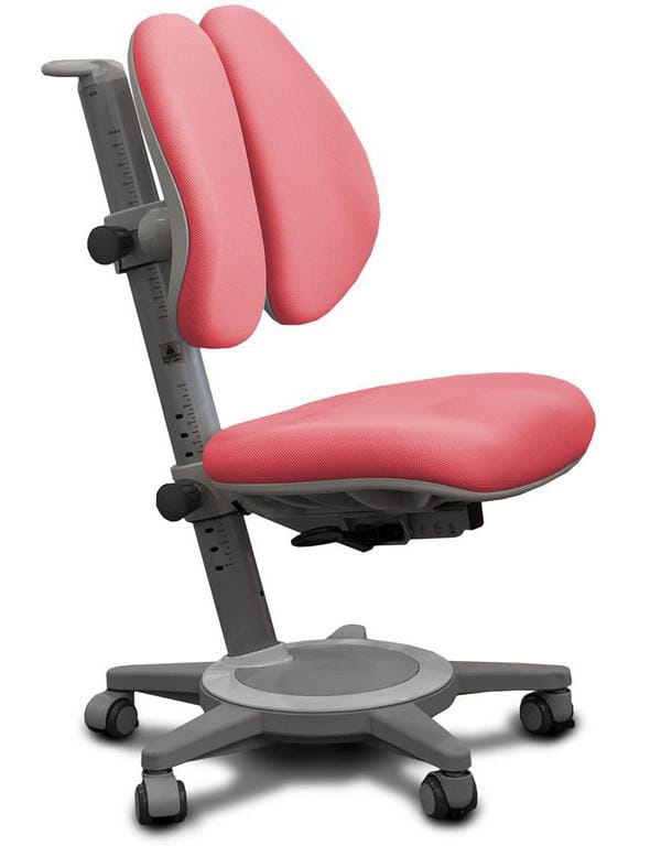 Кресло Mealux Cambridge Duo (цвет обивки: розовый, цвет каркаса: серый)