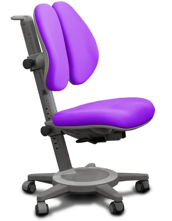 Кресло Mealux Cambridge Duo (цвет обивки: фиолетовый, цвет каркаса: серый)