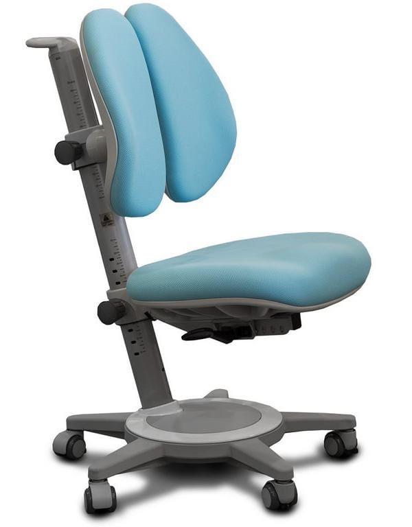 Кресло Mealux Cambridge Duo (цвет обивки: голубой, цвет каркаса: серый)